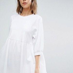 ASOS White Smock Babydoll Dress